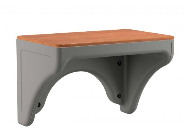 Attenda Wall Desk Graphite Cherry