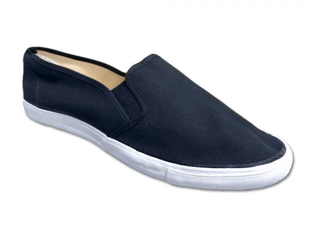 SWS Group Inc. - Navy Canvas Slip-On Shoes